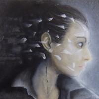 """""""Catharsis"""" (60x30cm acryliques sur céramique)"""