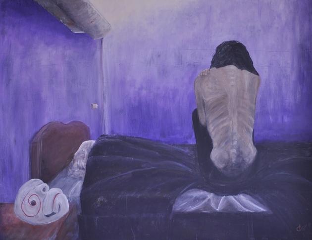 """""""Ingénue Eugenia"""" (121x150cm acrylique)"""