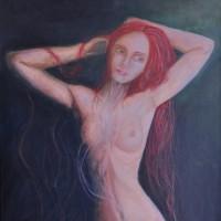 """""""L'inconscient de l'autre"""" (50x70cm pastels à l'huile et acrylique)"""